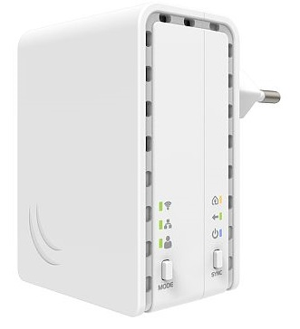 MikroTik PWR-LINE AP, PL7411-2nD, PowerLine adaptér, 650 MHz, 64 MB, 802.11b/g/n, L4