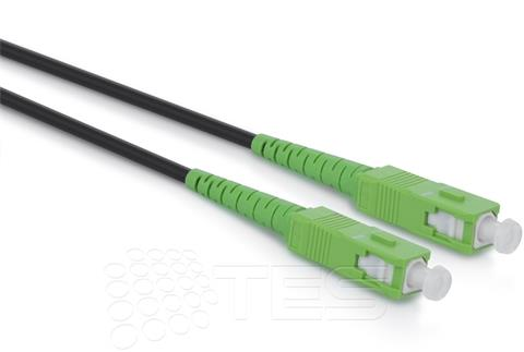 Optický patchcord SC/APC - SC/APC 15m, 3mm, simplex, SM, G657A2, Heavy Duty, outdoor